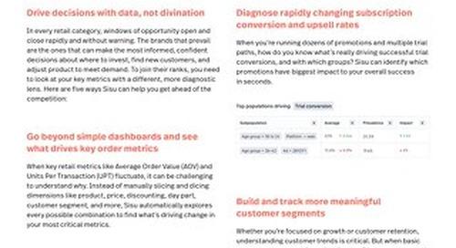 5 Ways to Diagnose Retail KPIs with Sisu
