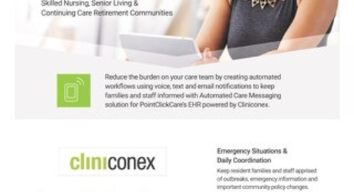 Cliniconex Solution Sheet