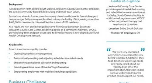 Walworth County Care Center Success Story