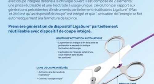 L'instrument LigaSure à mâchoire courbée