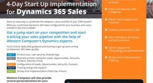 D365 Sales Start Up Implementation