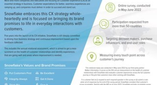 The Data Is In: The 2021 Snowflake Customer Experience Report
