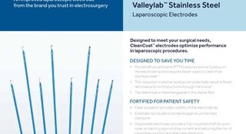 Info Sheet: CleanCoat™ Laparoscopic Electrodes