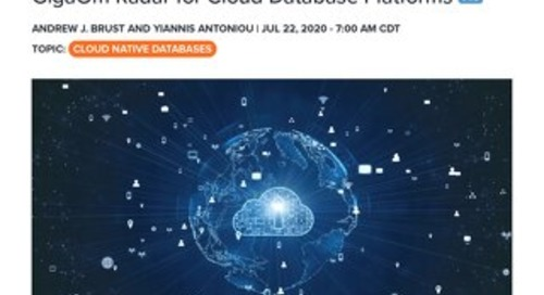 GigaOm Radar Report for Cloud Database Platforms
