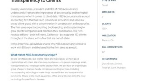 Case Study - MBS Accountancy