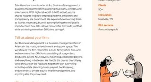 How Arc Business Management eliminated process bottlenecks with Bill.com