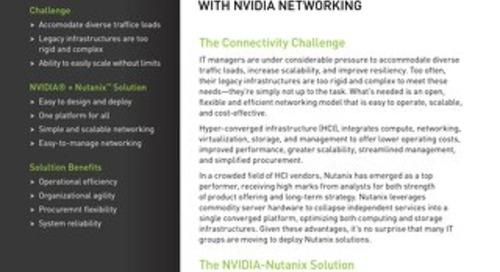 Simplify Nutanix Connectivity with NVIDIA Networking