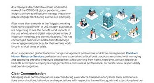 Managing Virtual Employee Engagement During Crisis