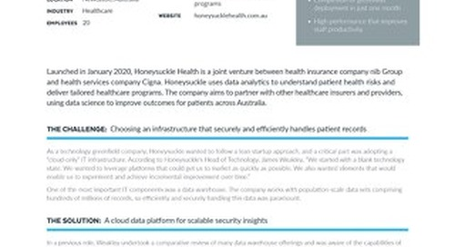 Honeysuckle Health Builds Powerful Cloud Infrastructure with Snowflake