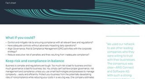 Fact Sheet: ARIS Risk & Compliance Management