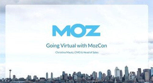 Going Virtual with MozCon