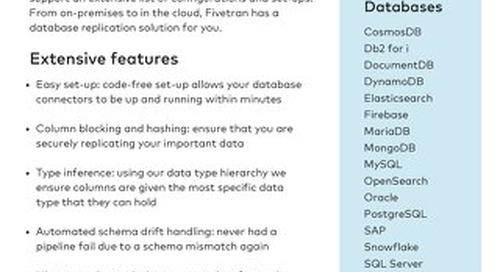 Fivetran for Databases