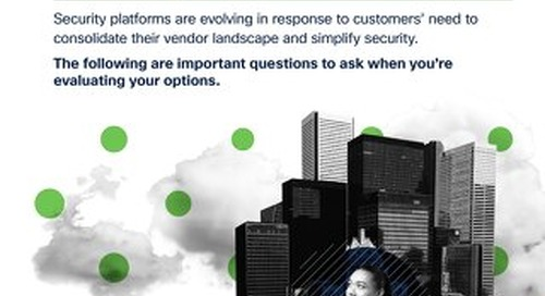 5 Questions to Ask Your Security Platform Vendor from Cisco