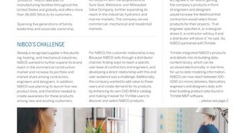 NIBCO and Trimble: The Challenge, the Solution, and the Results
