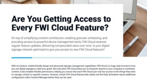 Learn About the Cloud Optimization Service From FWI
