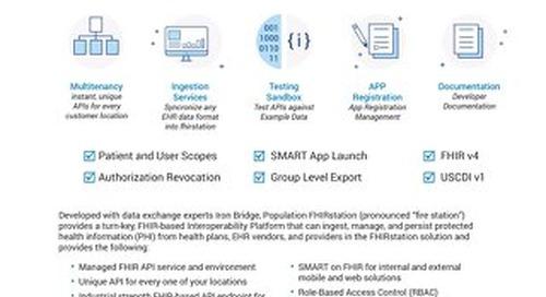 Solution Brief - FHIRstation Interoperability Platform