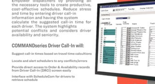 COMMANDseries Driver Call In