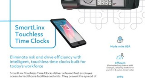 SmartLinx Touchless Time Clocks