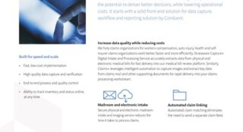 Strataware Capture+ and Claims+ Digital Intake & Processing Solutions