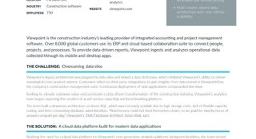 Viewpoint Launches Customer Analytics Platform in 6 Months for 40% Less with Snowflake