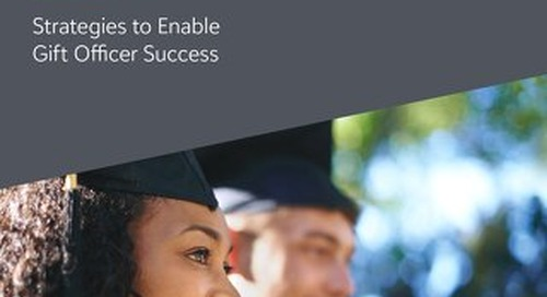 eBook: Navigating the New Normal: Higher Ed Advancement Strategies for Enabling Gift Officer Success