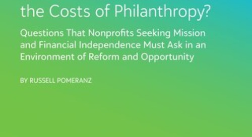 Is It Time to Recalculate the Costs of Philanthropy?