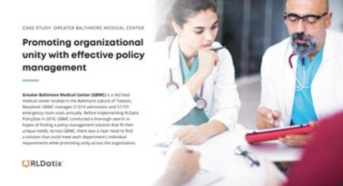 RLDatix Case Study: Promoting organizational unity with effective policy management