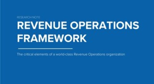 TOPO Research: Revenue Operations Framework