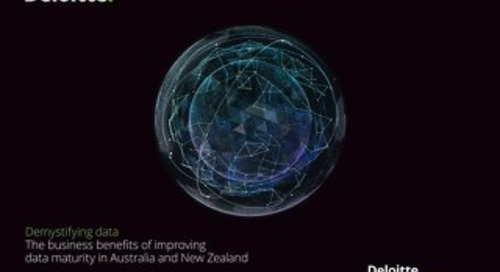 Deloitte Access Economics and AWS demystifying data the business benefits of improving data maturity