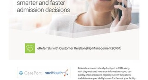 Solution Sheet: Customer Relationship Management (CRM) with eReferral