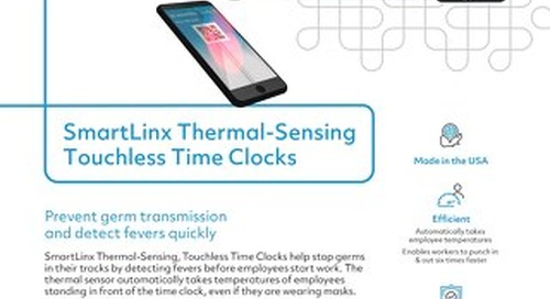 SmartLinx Thermal-Sensing Touchless Time Clocks