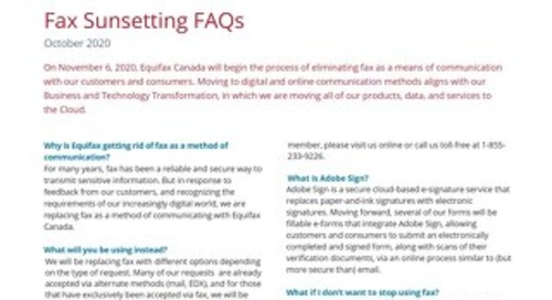 Fax Sunsetting FAQs