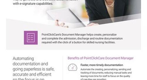 Document Manager for Skilled Nursing: Solution Sheet