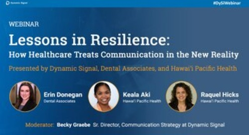 Lessons In Resilience Webinar