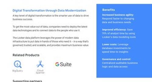 Digital Transformation through Data Modernization