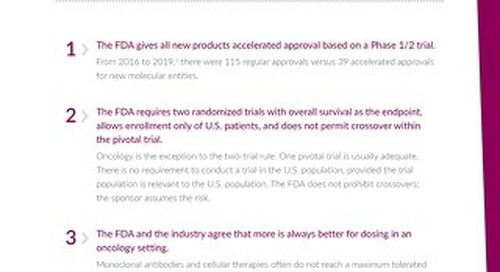 Infographic: Top 10 myths about working with FDA for oncology drug approval