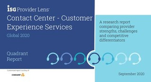 ISG Provider Lens™ Contact Center – Customer Experience Services Quadrant Report, Global 2020
