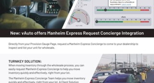 Manheim Concierge Cheat Sheet