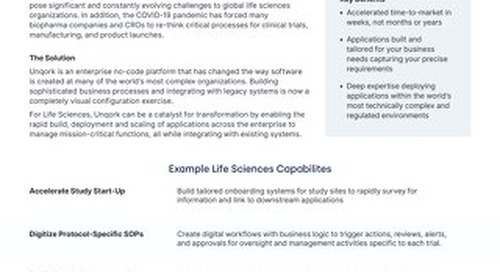 Solution Brief: Unqork for Life Sciences