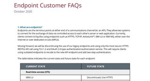 Endpoint Customer FAQs