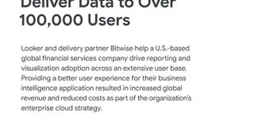 Bitwise Builds Custom Apps with Looker to Deliver Data to Over 100,000 Users