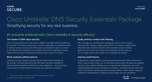 Cisco Umbrella - DNS Security Essentials Package