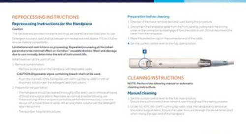 TruClear™ System Handpiece - CLEANING AND STERILIZATION GUIDE