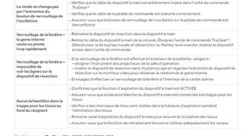 GUIDE DE DÉPANNAGE - Système TruClear
