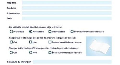RÉPARATION DE HERNIE - Formulaire d'évaluation de produit