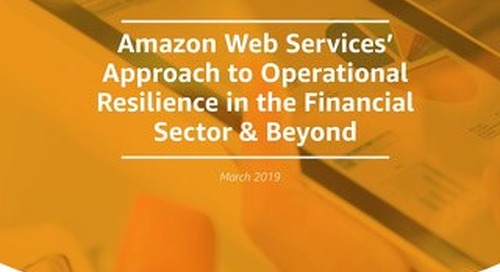 AWS Operational Resilience