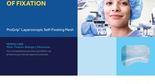 ProGrip™ Laparoscopic Self-Fixating Mesh