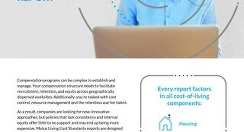 Motus Living Cost Standards Report