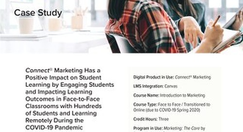 Connect® Marketing and Success with Remote Learning at Virginia Tech
