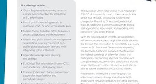 EU Clinical Trial Regulation 536/2014 Factsheet
